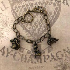 Jewelry - Handmade woodland charm bracelet.
